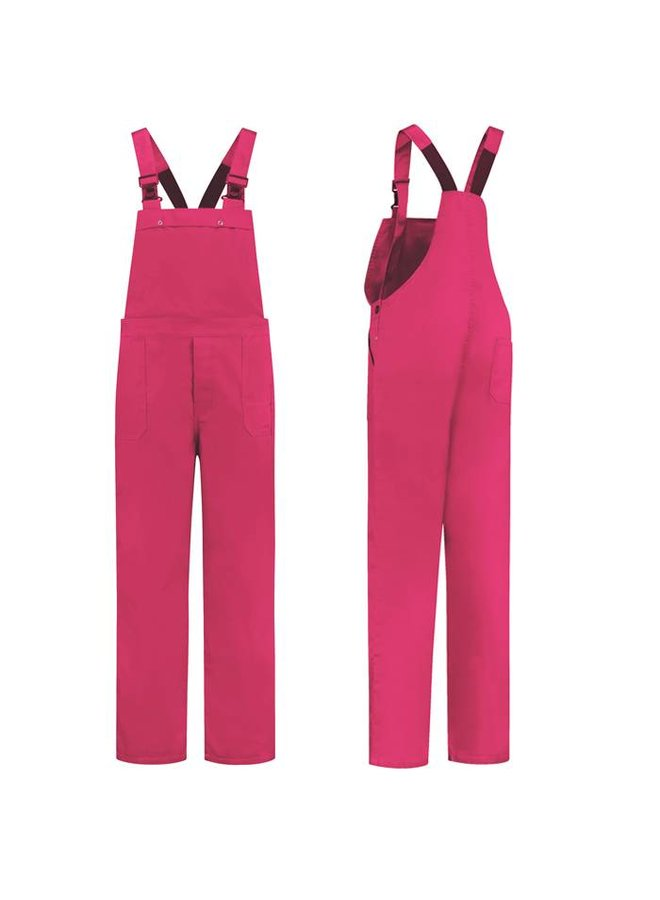 Fuchsia pink dungarees M / V for garden and carnival