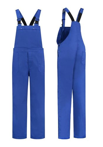 Blue dungarees for men and women