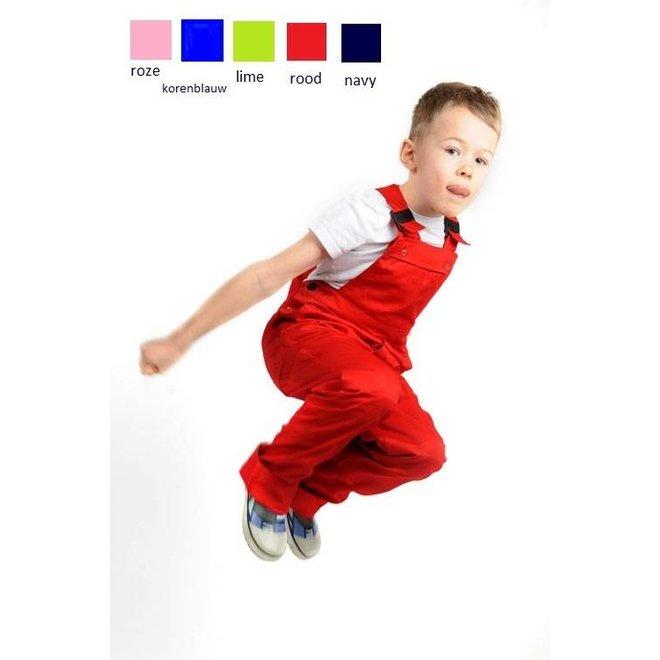 Children's dungarees, garden overalls, various colors