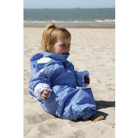 thumb-Duurzaam kinderregenpak Funky Blue| 74-116-1