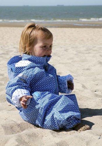 Ducksday  Durable rain suit - Funky Blue 74-116