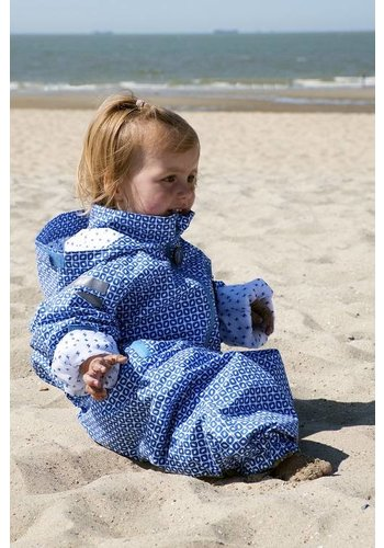 Ducksday  Durable rain suit - Funky Blue 74-116