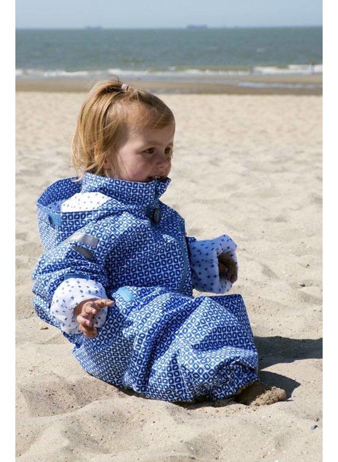 Durable rain suit - Funky Blue 74-116