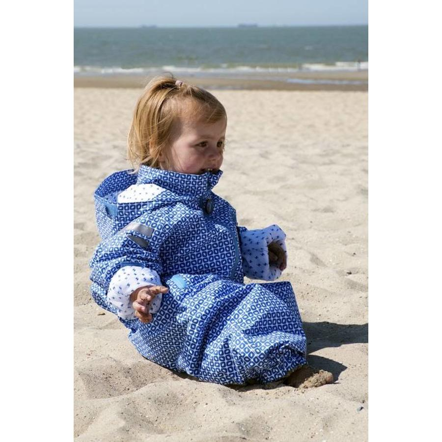 Duurzaam kinderregenpak Funky Blue  74-116-1