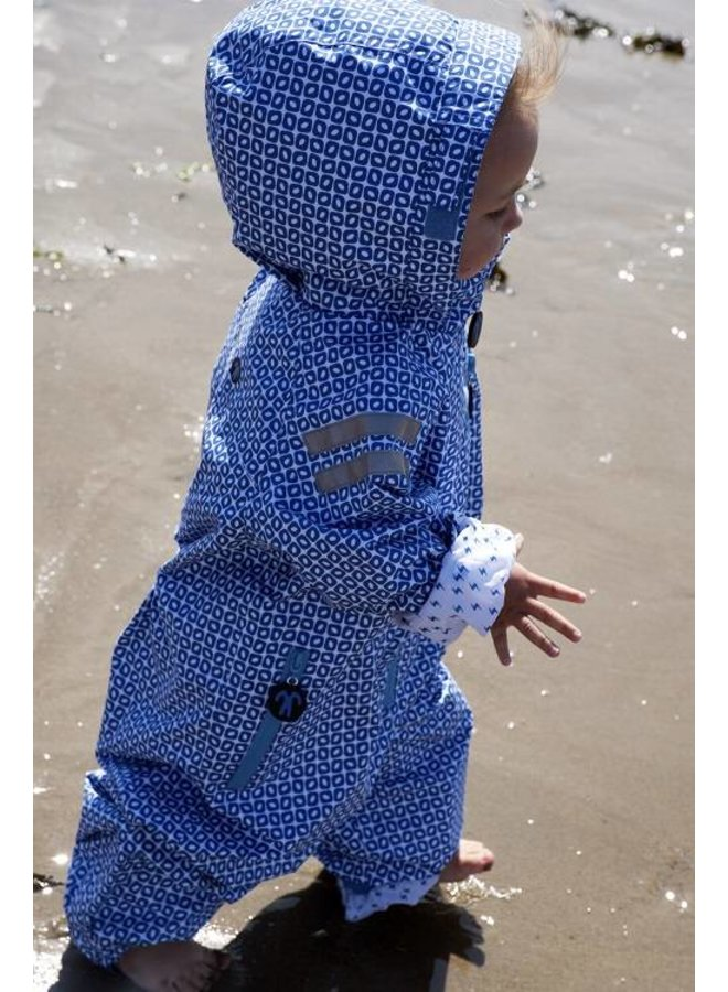 Duurzaam kinderregenpak Funky Blue| 74-116