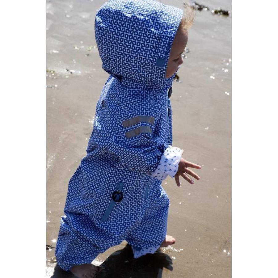 Duurzaam kinderregenpak Funky Blue| 74-116-2