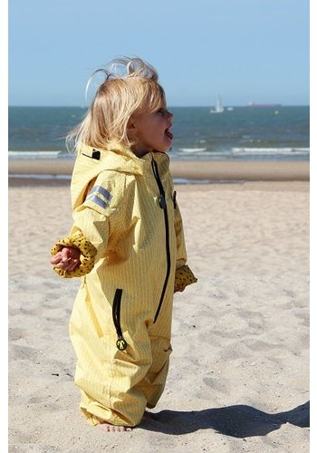 Ducksday buitenkleding Durable rain suit - Yellow Falcon | 74-116
