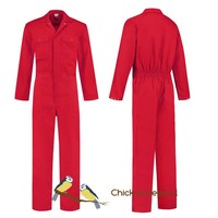 thumb-Children's overall red or royal blue-1