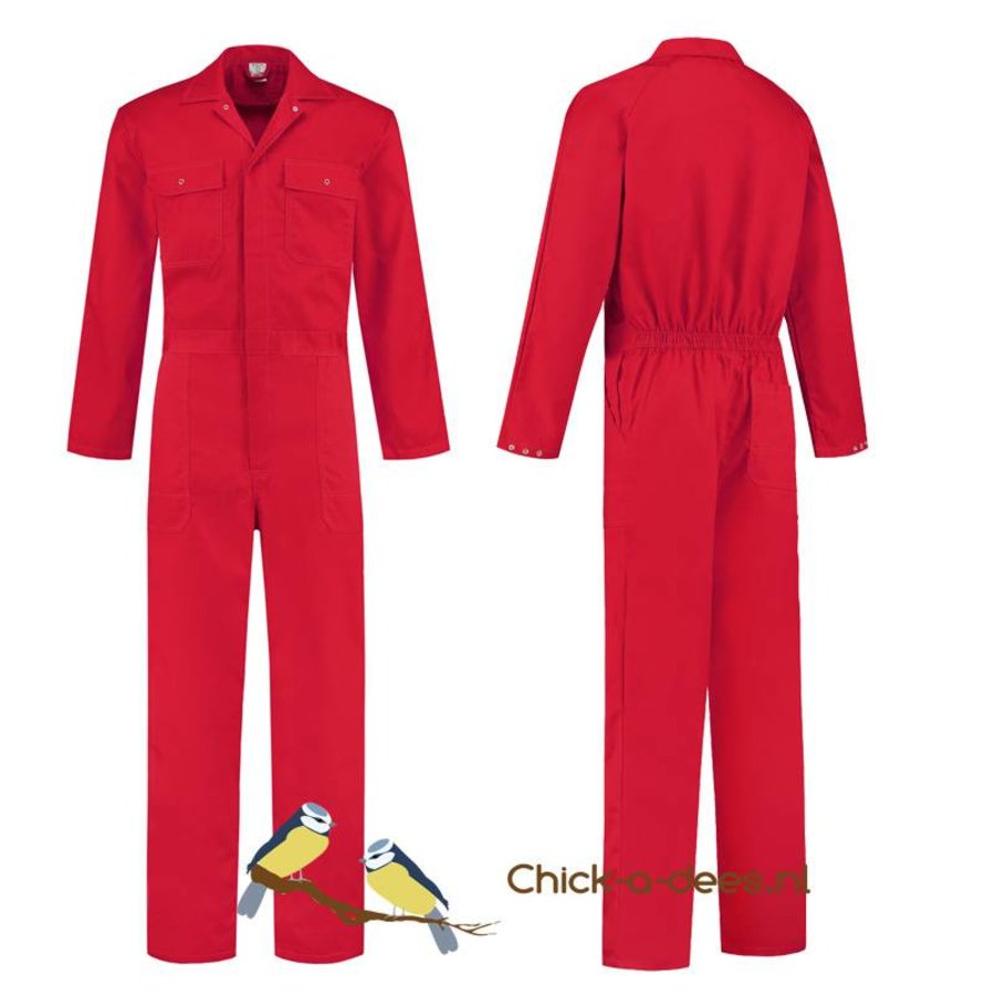 Children's overall red or royal blue-1