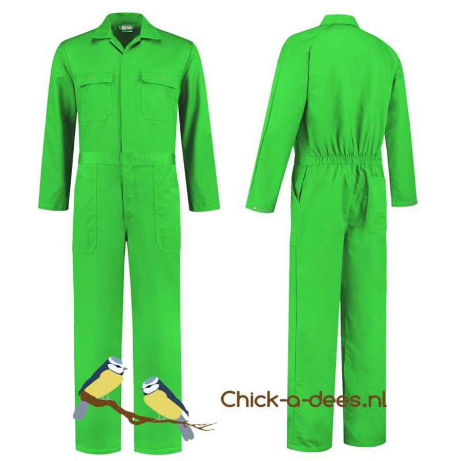 lime overall with name or text printing-5