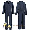 Dark blue, navy overall for women and men -