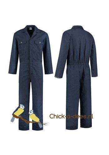 Donkerblauwe, navy overall voor dames en heren