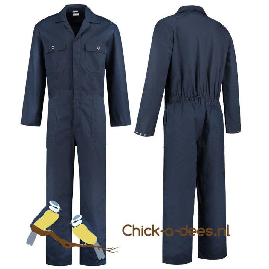 d582f0f7f64 Donkerblauwe, navy overall voor dames en heren - Chick-a-dees