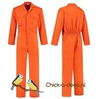 thumb-Oranje overall met naam of tekst bedrukking-3