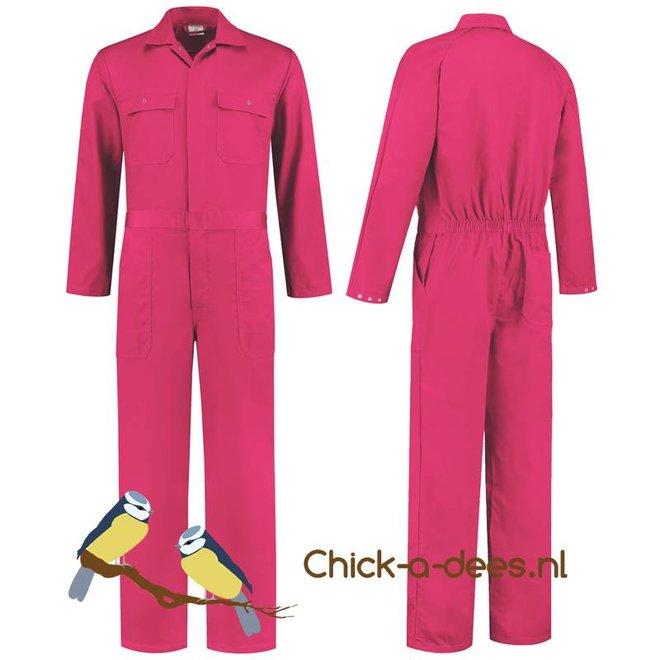 Fuchsia roze overall voor dames en heren