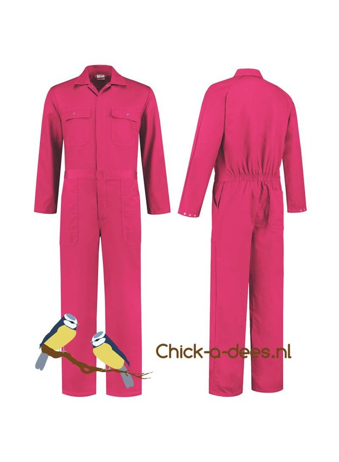 Fuchsia pink overall for ladies and gentlemen