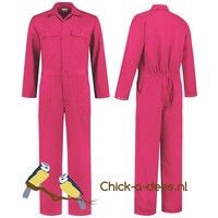 thumb-Hard Pink overalls, baby overalls-2