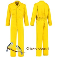 thumb-Yellow overall with name or text printing-2