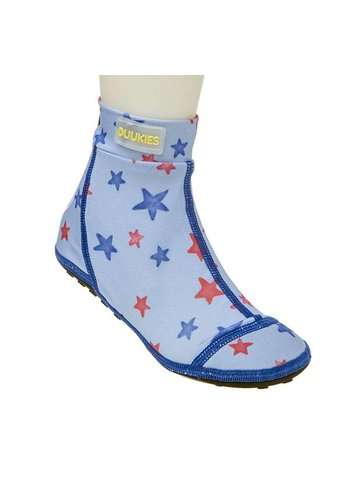 Duukies  Beachsock- Star Blue Red zwemsokken