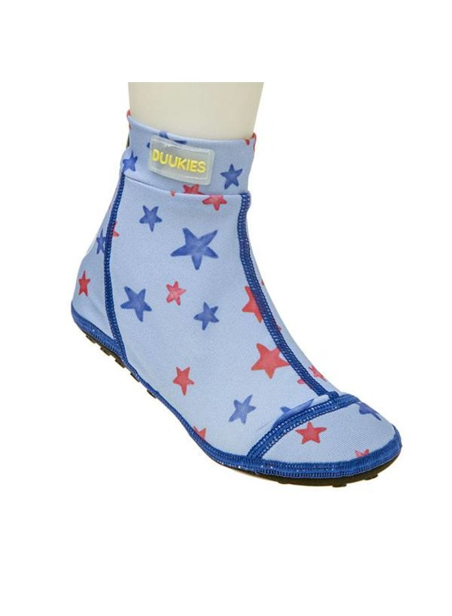 Beachsock- Star Blue Red zwemsokken