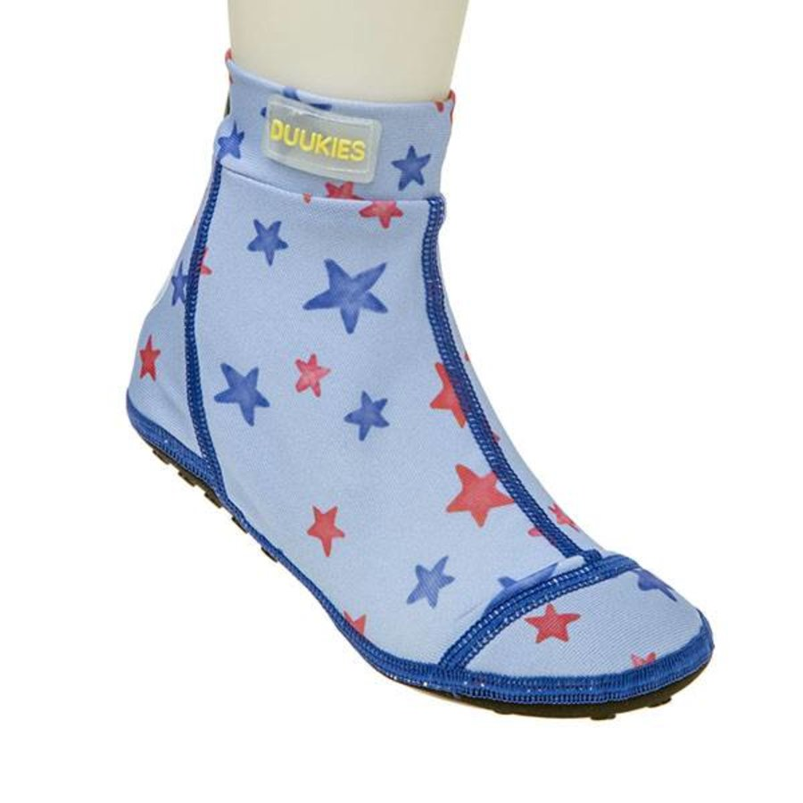 Beachsocks -Star Blue Red-1