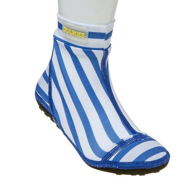 Beachsock- Stripe Blue White zwemsokken