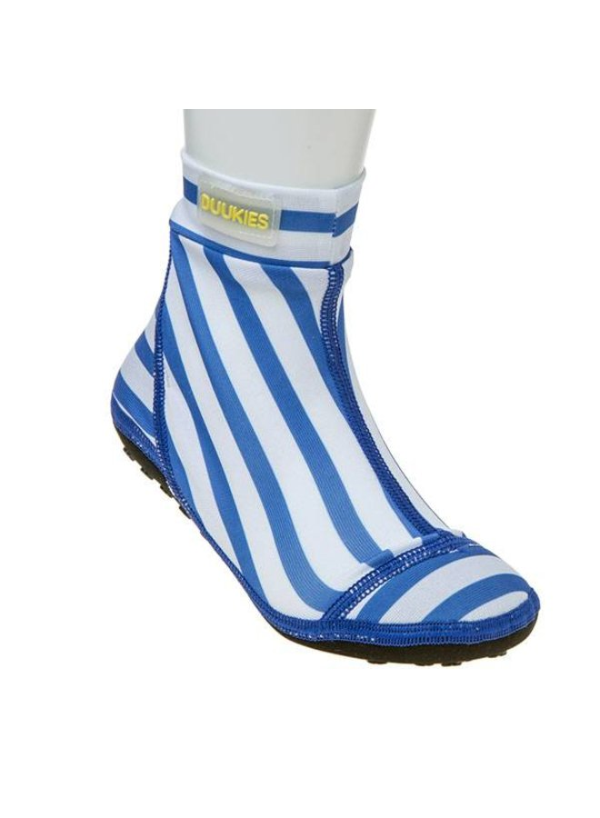 Beachsock- Stripe Blue White zwemsokken