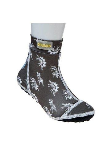 Duukies  Beachsock- Dino Grey White zwemsokken