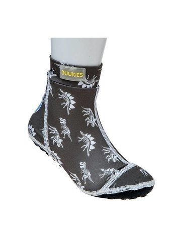 Duukies  Beachsock- Dino Grey White