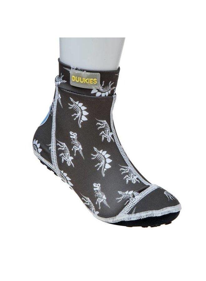 Beachsock- Dino Grey White zwemsokken