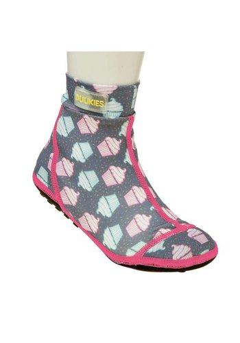 Duukies  Beachsock-Muffin Grey Pink zwemsokken
