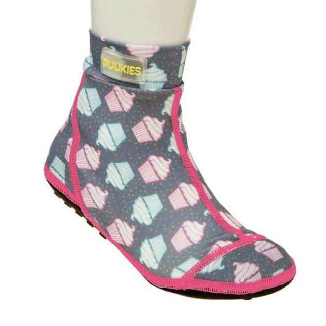 Beachsock-Muffin Grey Pink zwemsokken
