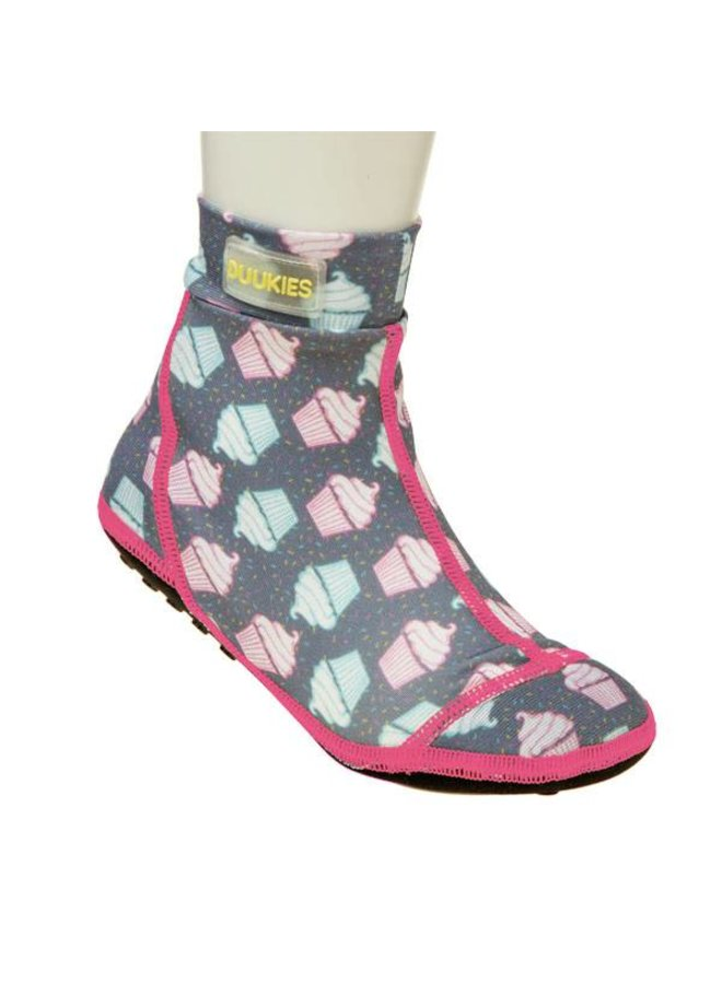 Beachsock-Muffin Grey Pink zwemsokken