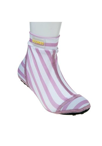Duukies  Beachsock-Stripe Pink White zwemsokken