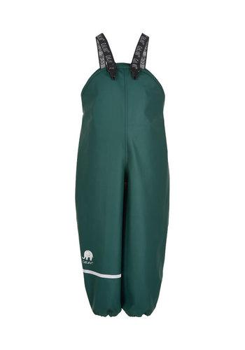 CeLaVi Dark green rain pants with suspenders | 70-100
