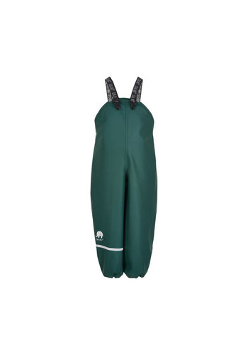 CeLaVi Dark green rain pants with suspenders | 70-100
