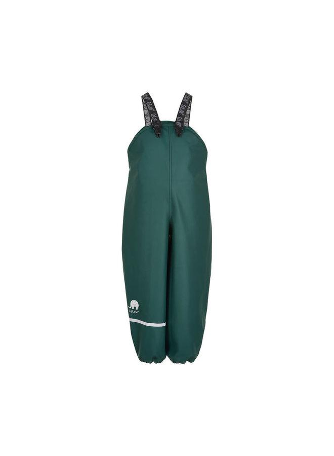 Dark green rain trousers with suspenders 70-100