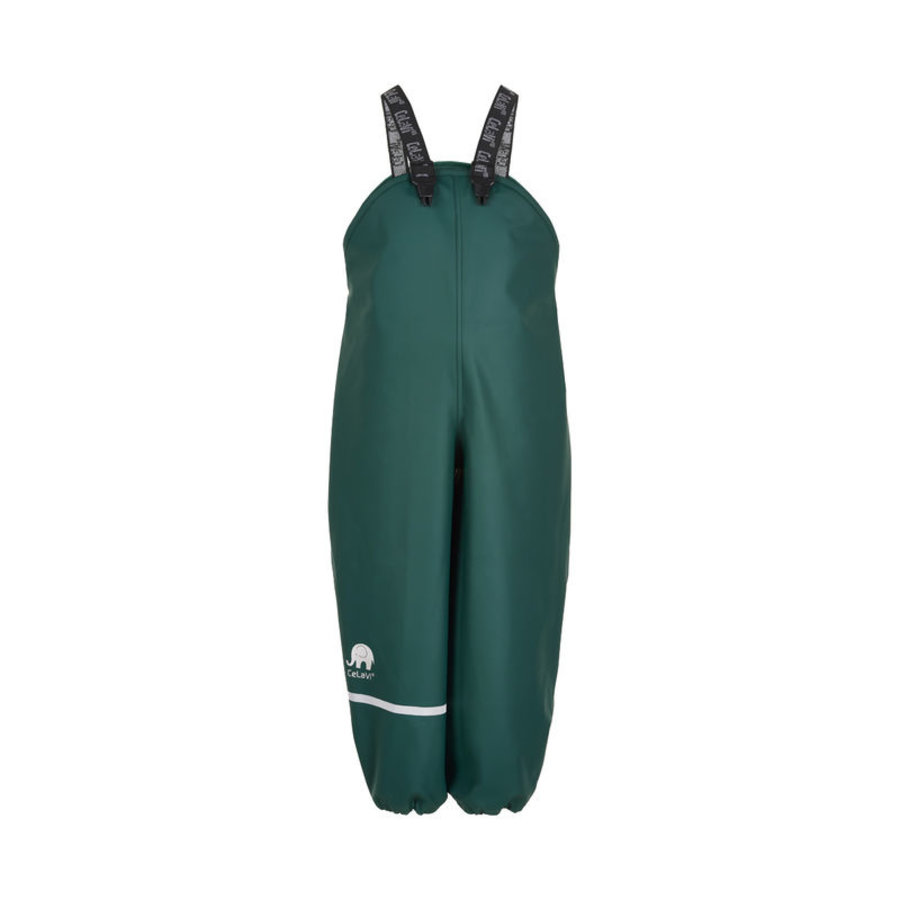 Dark green children's rain pants with suspenders 70-100 - Copy-1
