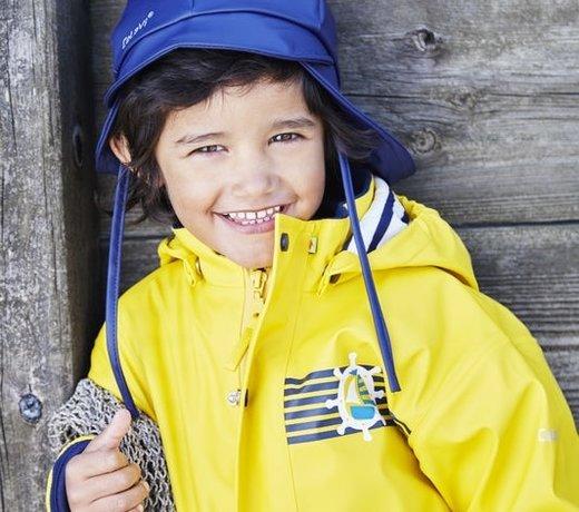 Children's rainwear without lining