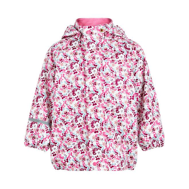 Kinderregenjas met bloemen en vlinders | 70-140