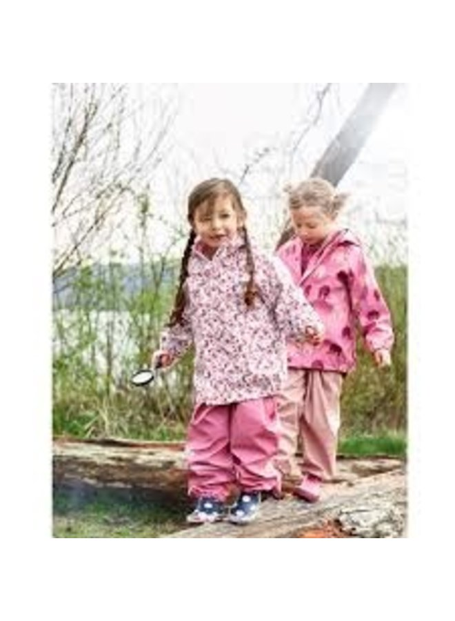 Children's raincoat in pink with butterflies and flowers 70-140