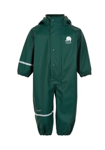 CeLaVi Dark green child rain coverall 70-110