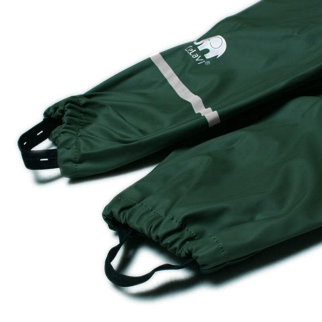 Dark green children's rain pants   110-140