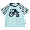 T-shirt met tractor | lichtblauw| maat 80-116