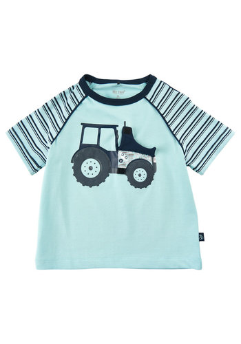 ME TOO T-shirt met tractor | lichtblauw| maat 80-116