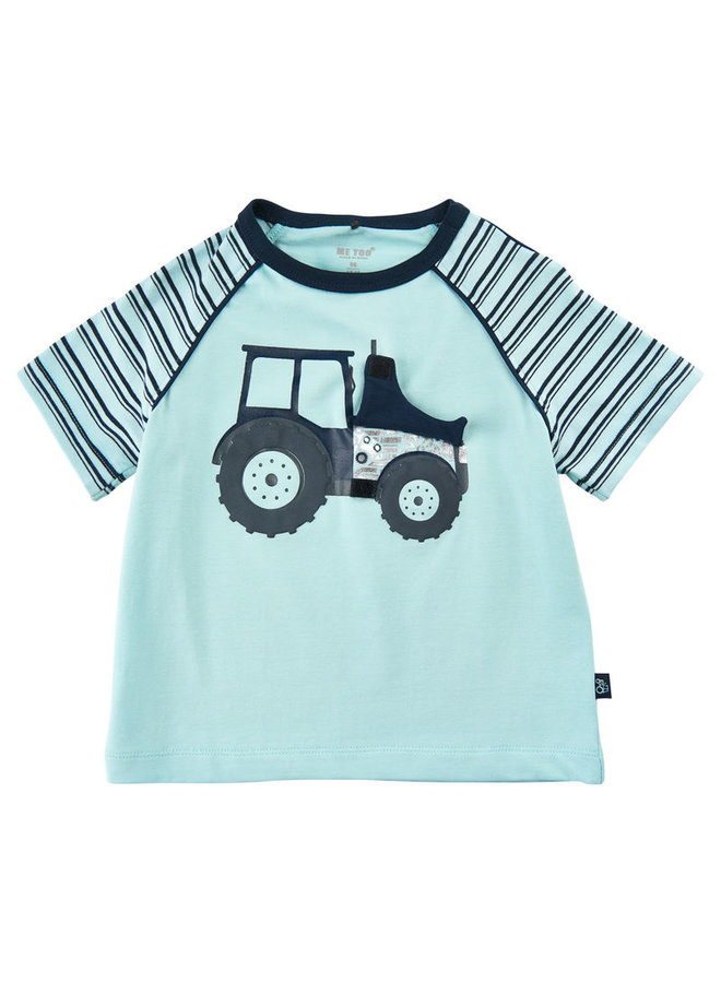 T-shirt with tractor dark blue | size 80-116