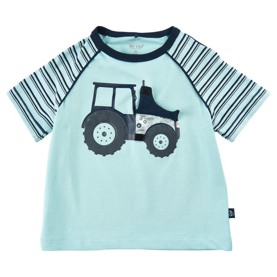 T-shirt met tractor print en luikje naar motor-1
