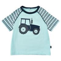 thumb-T-shirt met tractor print en luikje naar motor-2