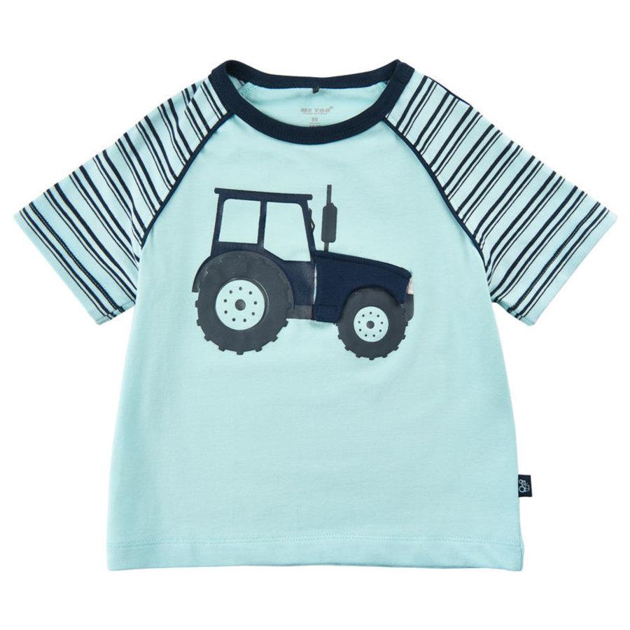 T-shirt met tractor print en luikje naar motor-2