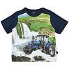 T-shirt met print tractor en watervallen | maat 80-116